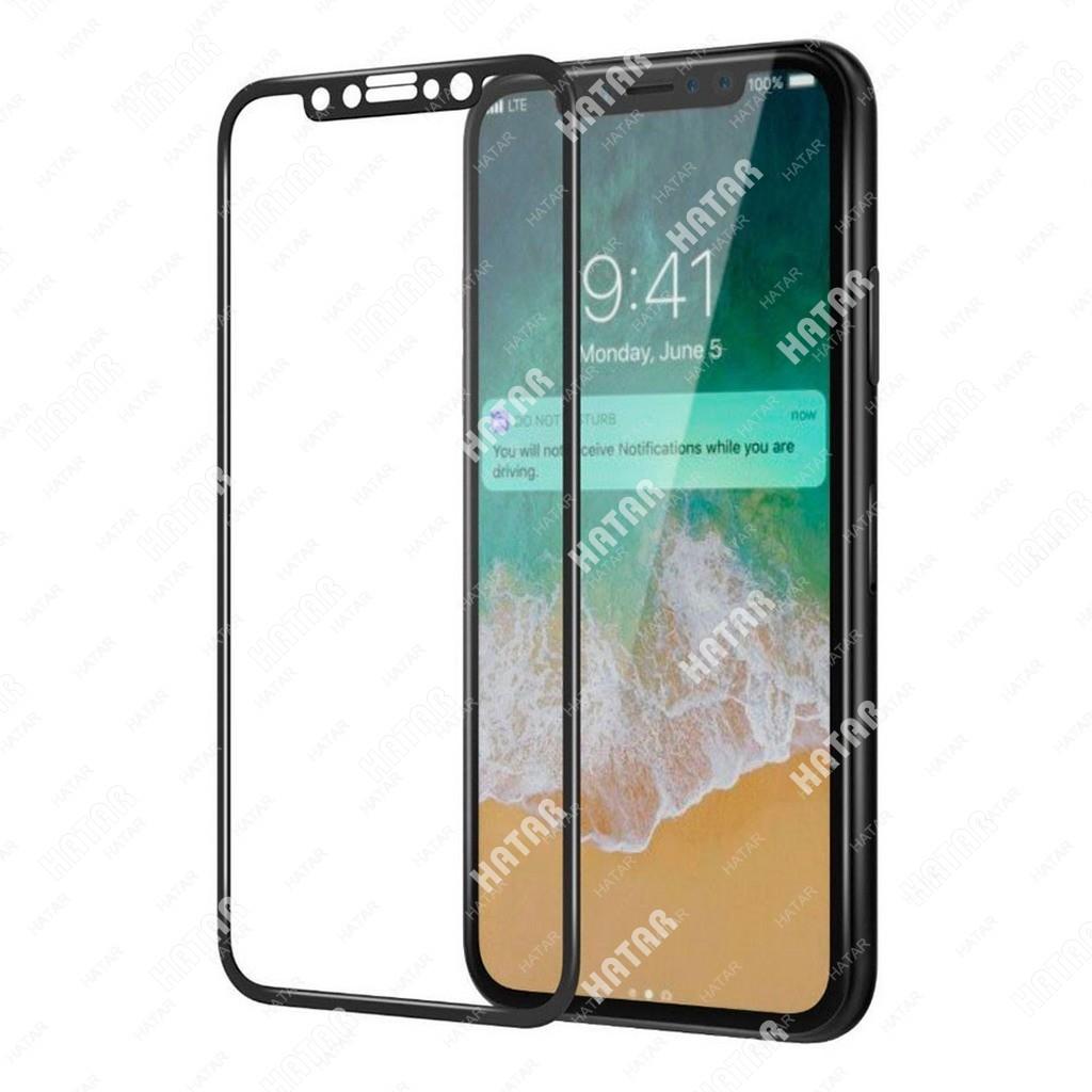 APPLE Стекло защитное для apple iphone x 9h черное