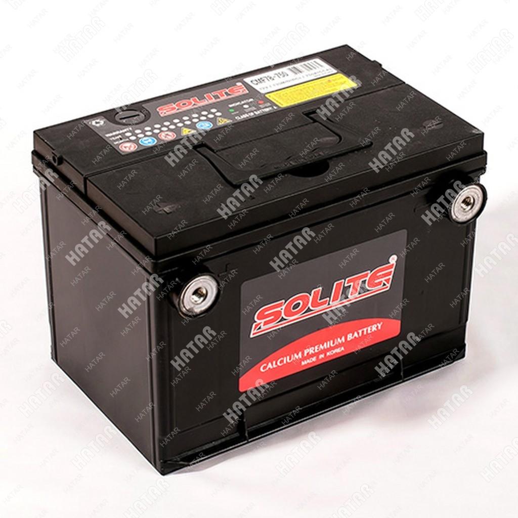 SOLITE Аккумулятор 78 ah 750 а боковой терминал