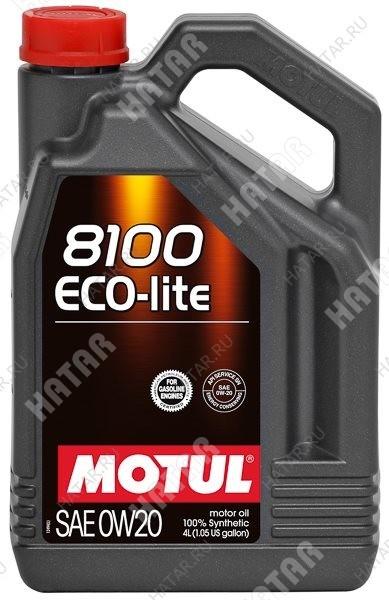 MOTUL 0w20 8100 eco-lite моторное масло синтетика sn/ gf-5 4л