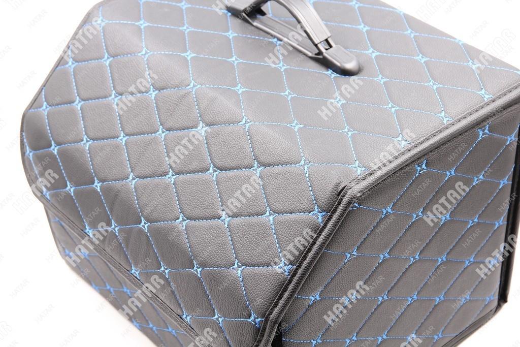 BOOST Кейс в багажник# средний черный/синяя нить