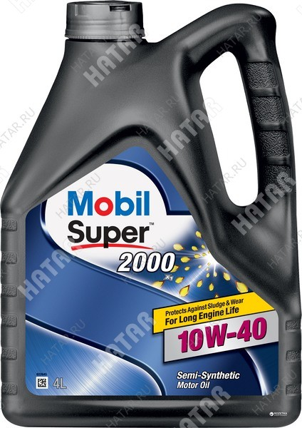 MOBIL 10w40 super 2000 x1 масло моторное 4l