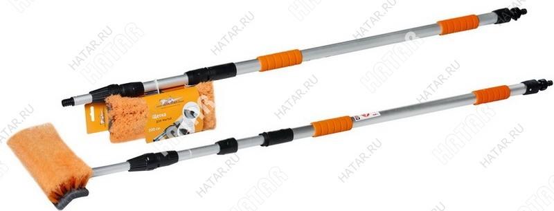 AIRLINE Швабра с насадкой для шланга, щеткой 25см и телескопической ручкой 300см