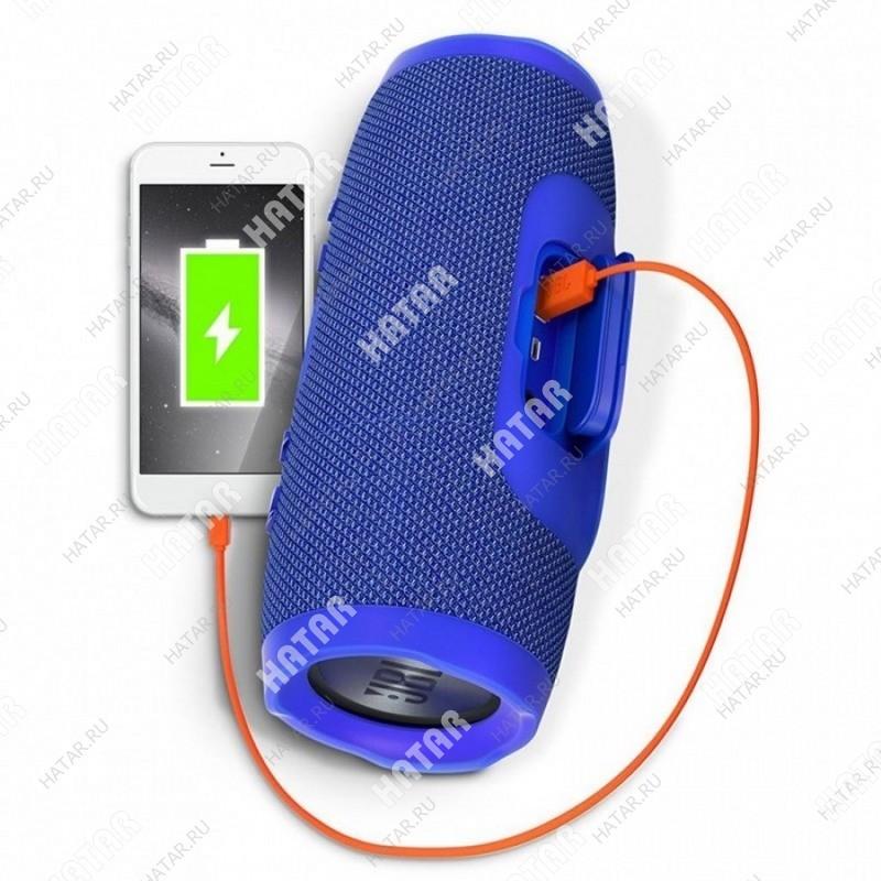 CHARGE K3+ Портативная bluetooth колонка с зарядным устройством синяя