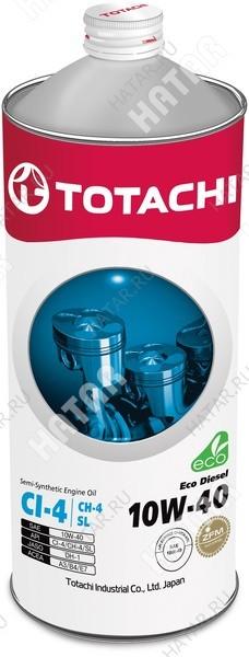 TOTACHI 10w40 eco-diesel масло моторное, полусинтетика, 1л