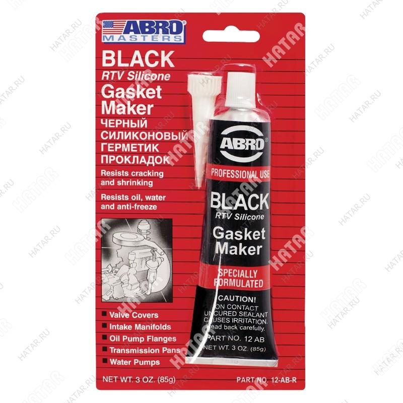 ABRO Герметик прокладок black gasket maker черный 85г