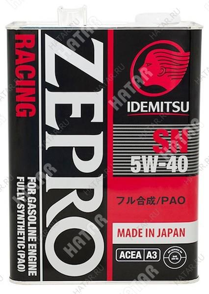 IDEMITSU Zepro racing 5w40 масло моторное синтетика sn 4л