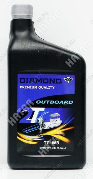DIAMOND 2t outboard масло моторное для двухтактных двигателей tc-w3 0,946л