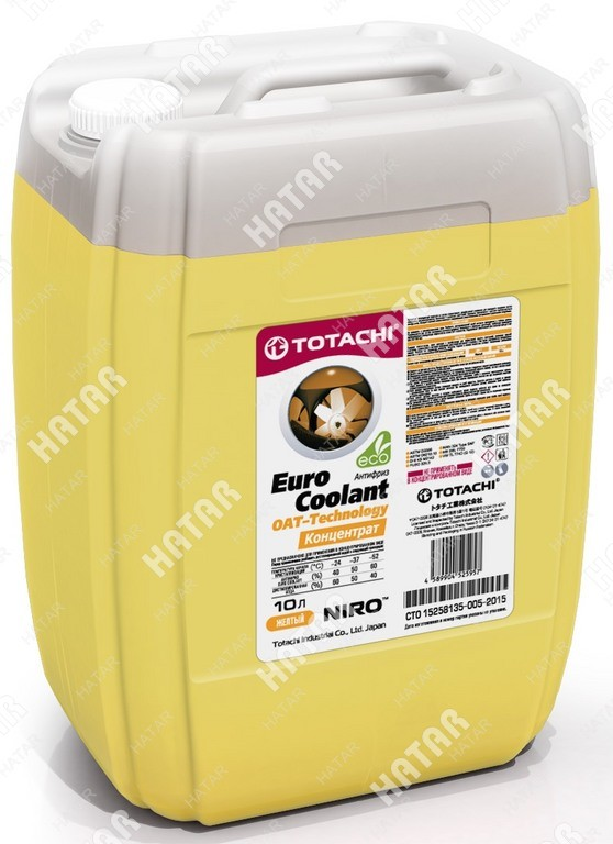 TOTACHI Niro euro coolant -40°c антифриз желтый карбоксилатный 10л