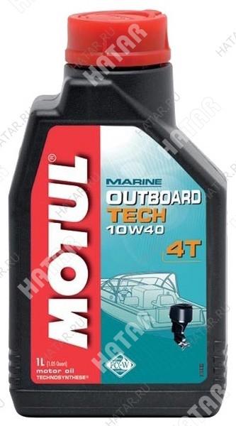 MOTUL Outboard tech 4t 10w40 моторное масло для 4-х тактных подвесных и кормовых бензиновых двигателей sj/sg 1л
