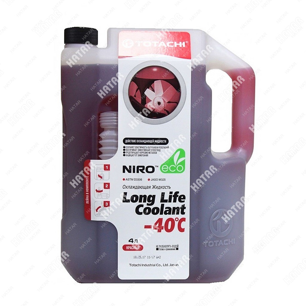 TOTACHI Super llc red -40 антифриз красный  5л