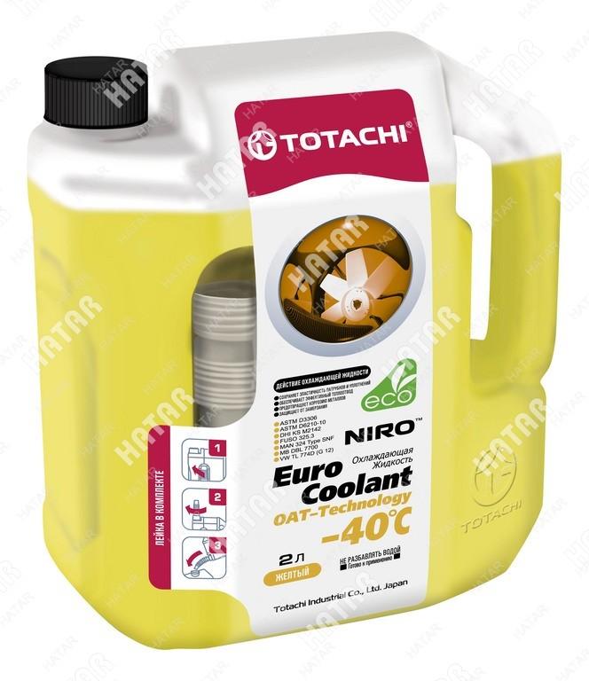TOTACHI Niro euro coolant -40°c антифриз желтый карбоксилатный 2л