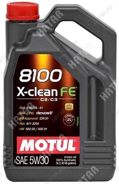 MOTUL 5w30 8100 x-clean fe моторное масло синтетика sm/cf 4л