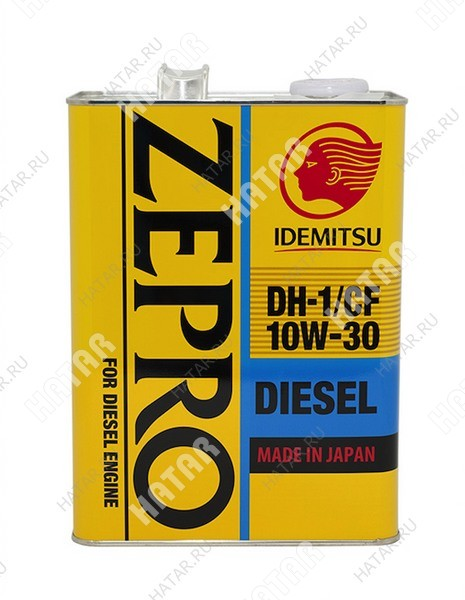 IDEMITSU Zepro diesel 10w30 масло моторное синтетика dh-1/cf 4л