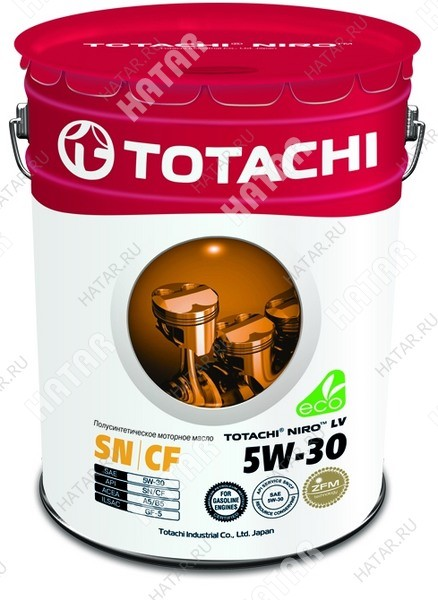 TOTACHI 5w30 niro lv масло моторное, полусинтетика,sn/cf 16.5кг/19.43л