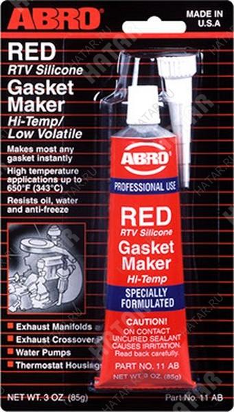 ABRO Герметик прокладок red gasket maker красный 85г