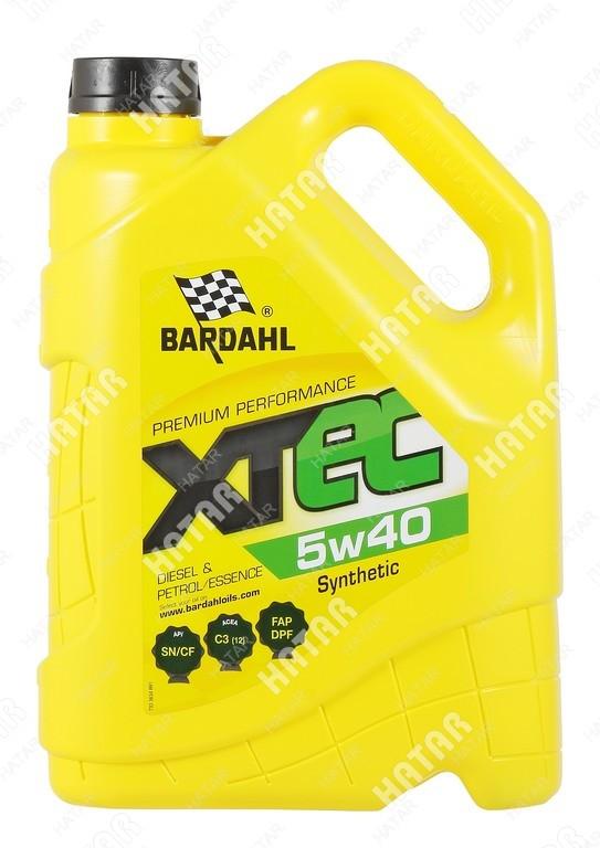 BARDAHL 5w-40 xtec cинтетическое моторное масло sn/cf 4л