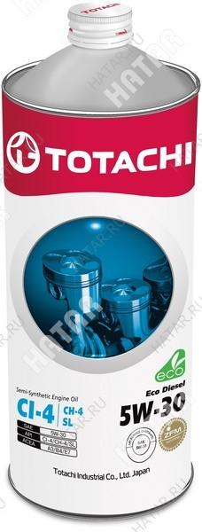 TOTACHI 5w30 eco diesel масло моторное, полусинтетика, ci-4/ch-4/sl 1л