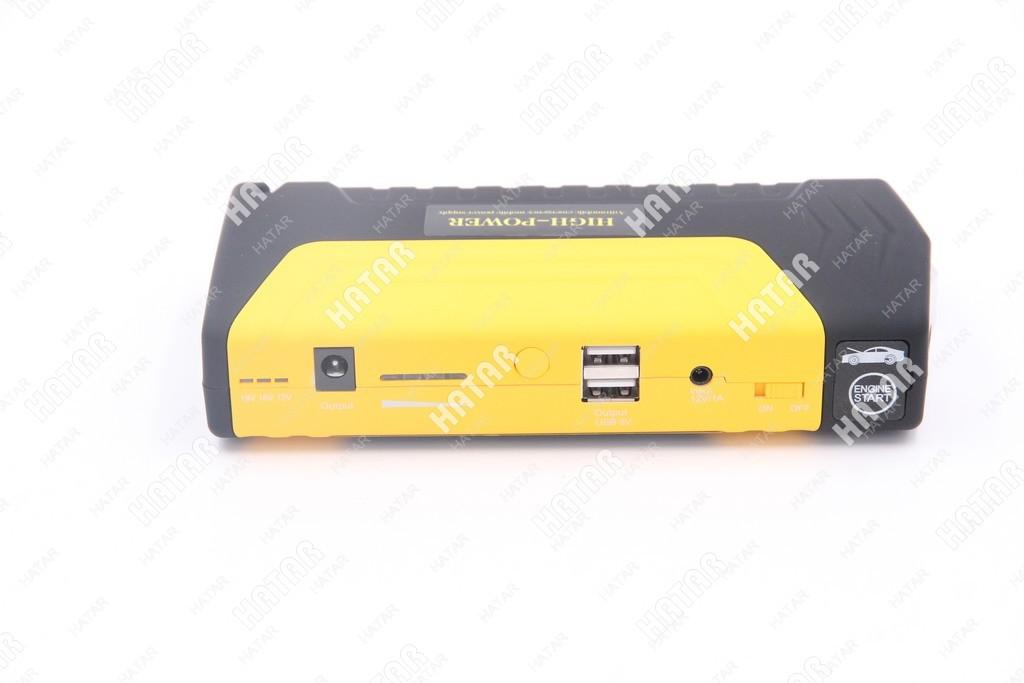 HIGH-POWER Портативное пусковое устройство (емкость 16800mah, пусковой ток 300-600ач: 2хusb 5a=2a, 12v/15v/19v, фонарь, пуск двс)