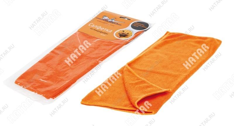 AIRLINE Салфетка из микрофибры оранжевая 35*40см