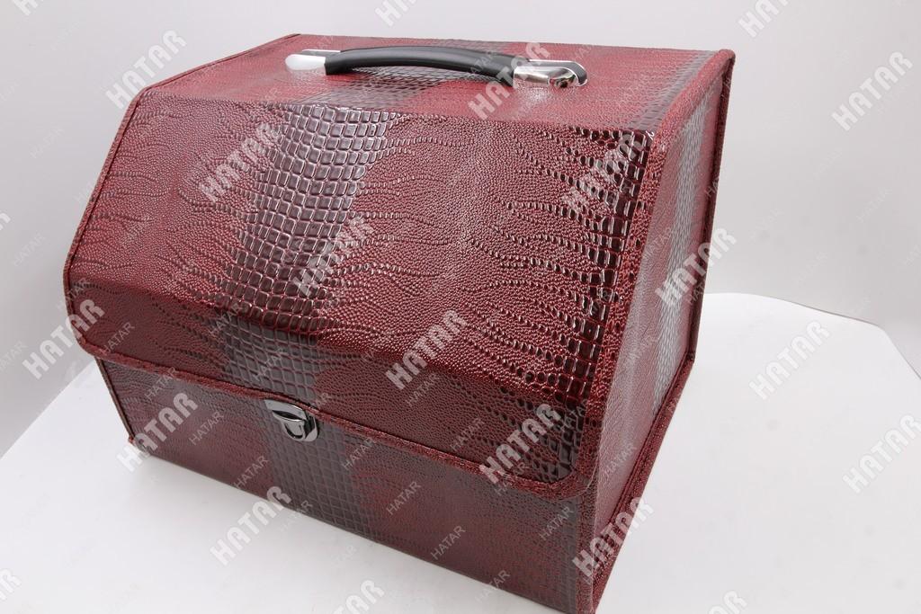 BOOST Кейс в багажник малый красный змеиная кожа