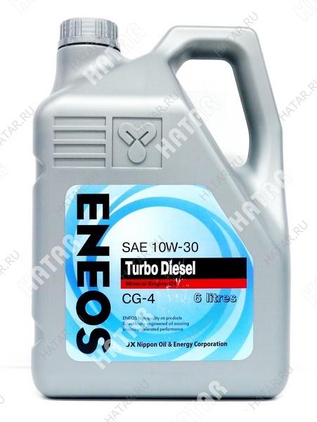 ENEOS 5w30 turbo diesel минеральное моторное масло cg-4 6л