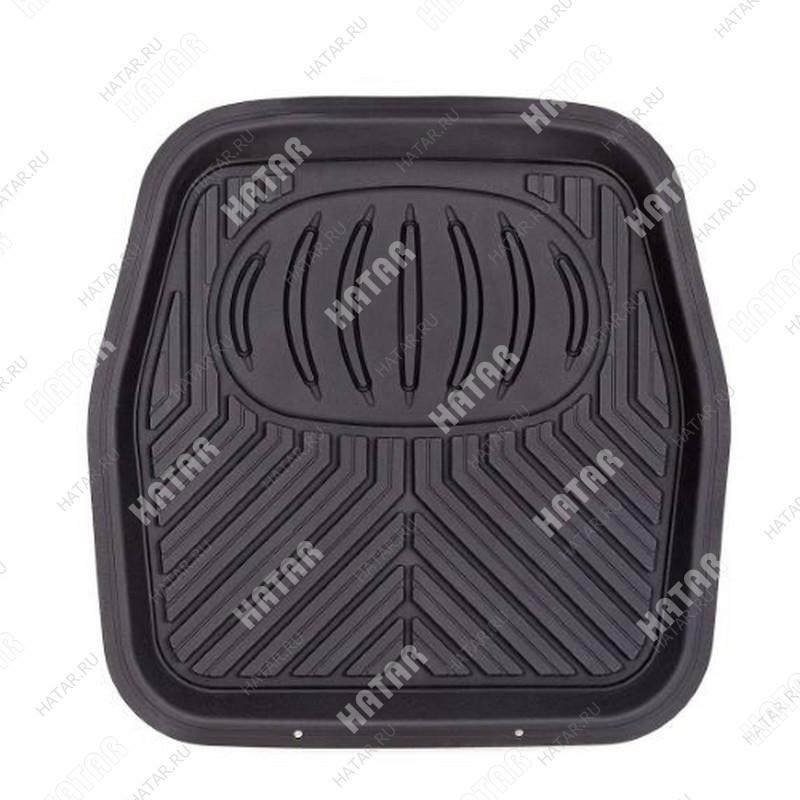 AUTOPROFI Коврик автомобильный универсальный, ванночка для заднего ряда, пвх, 1шт., 48х48см пвх чёрный