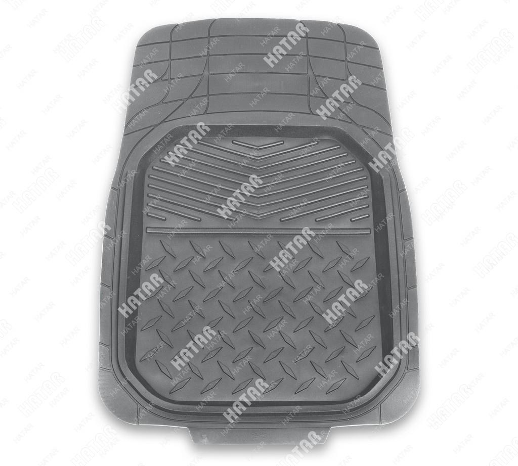 """PREMIER Коврики передние автомобильные comfort, серый, """"ванночки"""", термоэластичная резина"""