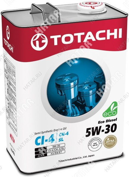 TOTACHI 5w30 eco diesel масло моторное, полусинтетика, ci-4/ch-4/sl 6л