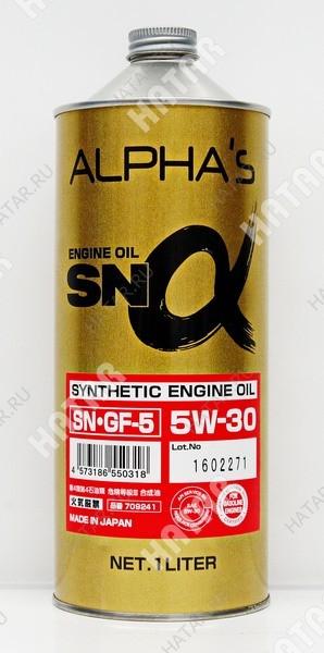 ALPHAS 5w30 масло моторное синтетика sn/gf-5 1l