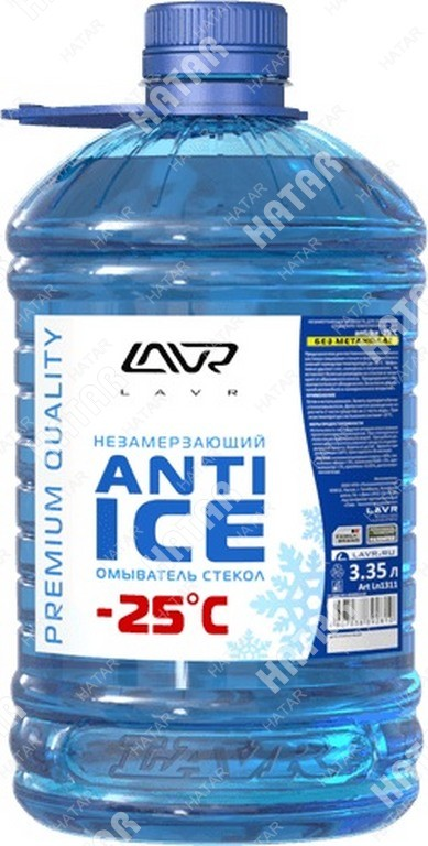 LAVR Незамерзающий омыватель стекол (-25) lavr anti ice 3,35л