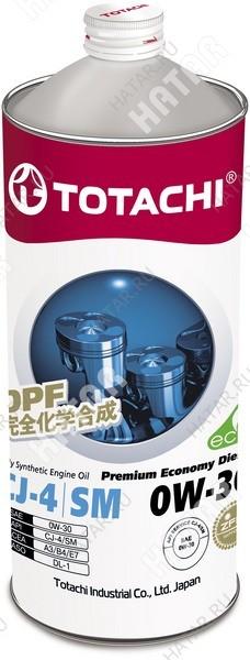 TOTACHI 0w30 premium economy diesel масло моторное, синтетика cj-4/sm 1л