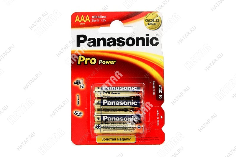 PANASONIC Lr03x/4bp panasonic lr03 pro power батарейки aaa 4шт.