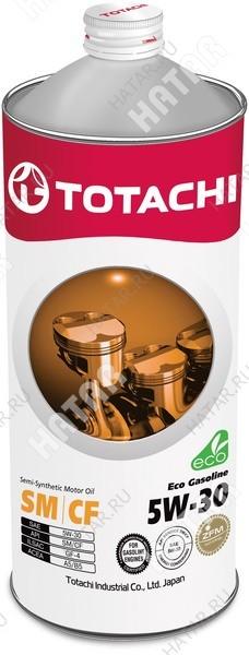 TOTACHI 5w30 eco-gasoline масло моторное, полусинтетика, sn/cf 1л