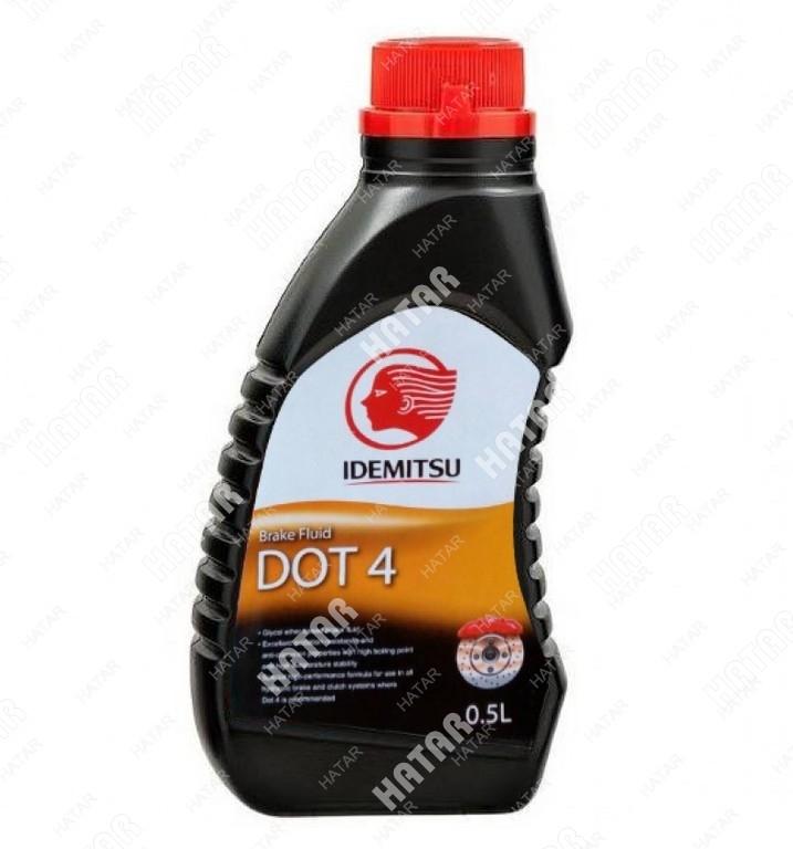 IDEMITSU Тормозная жидкость dot4, 0,5л
