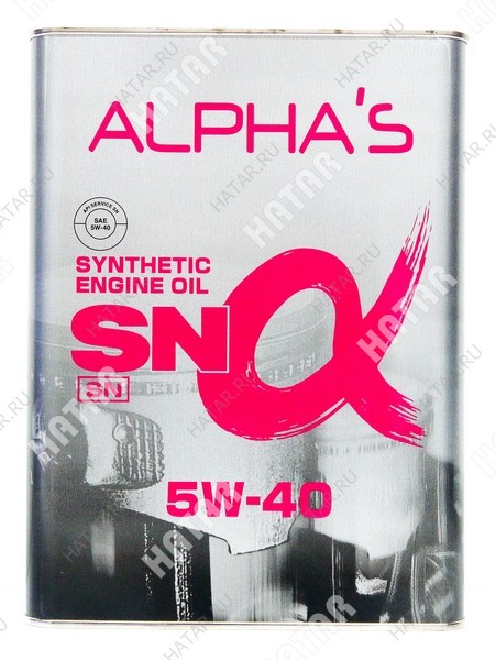 ALPHAS 5w40 масло моторное sn синтетика бензин 4l
