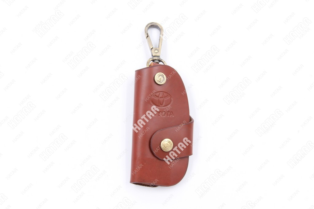 SUP Брелок-ключница кожаный toyota коричневый
