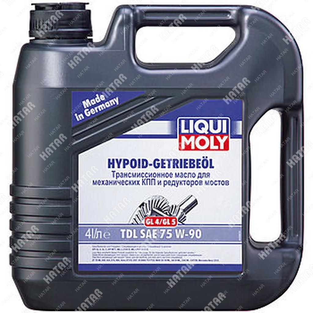 LIQUI MOLY 75w-90 полусинтетическое трансмиссионное масло hypoid-getriebeoil tdl gl4/gl5, mt-1 4л