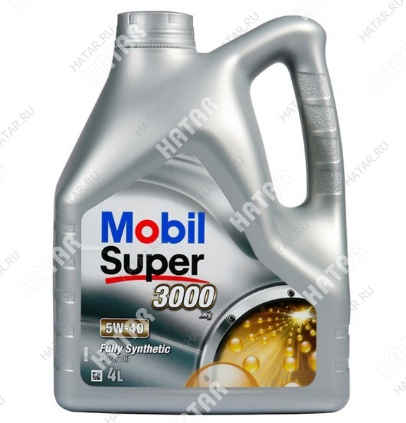 MOBIL 5w40 масло моторное super 3000 4l