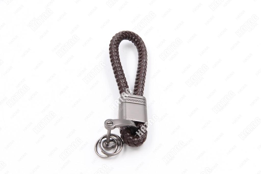 SUP Брелок для ключей шнурок плетеный коричневый