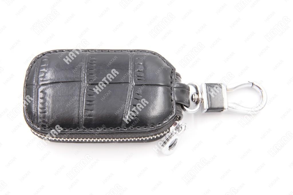 SUP Брелок-ключница кожаный на замке черный