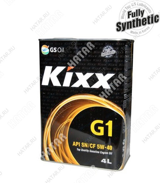 GS KIXX G1 5w40 масло моторное (синтетика),sn/cf 4л