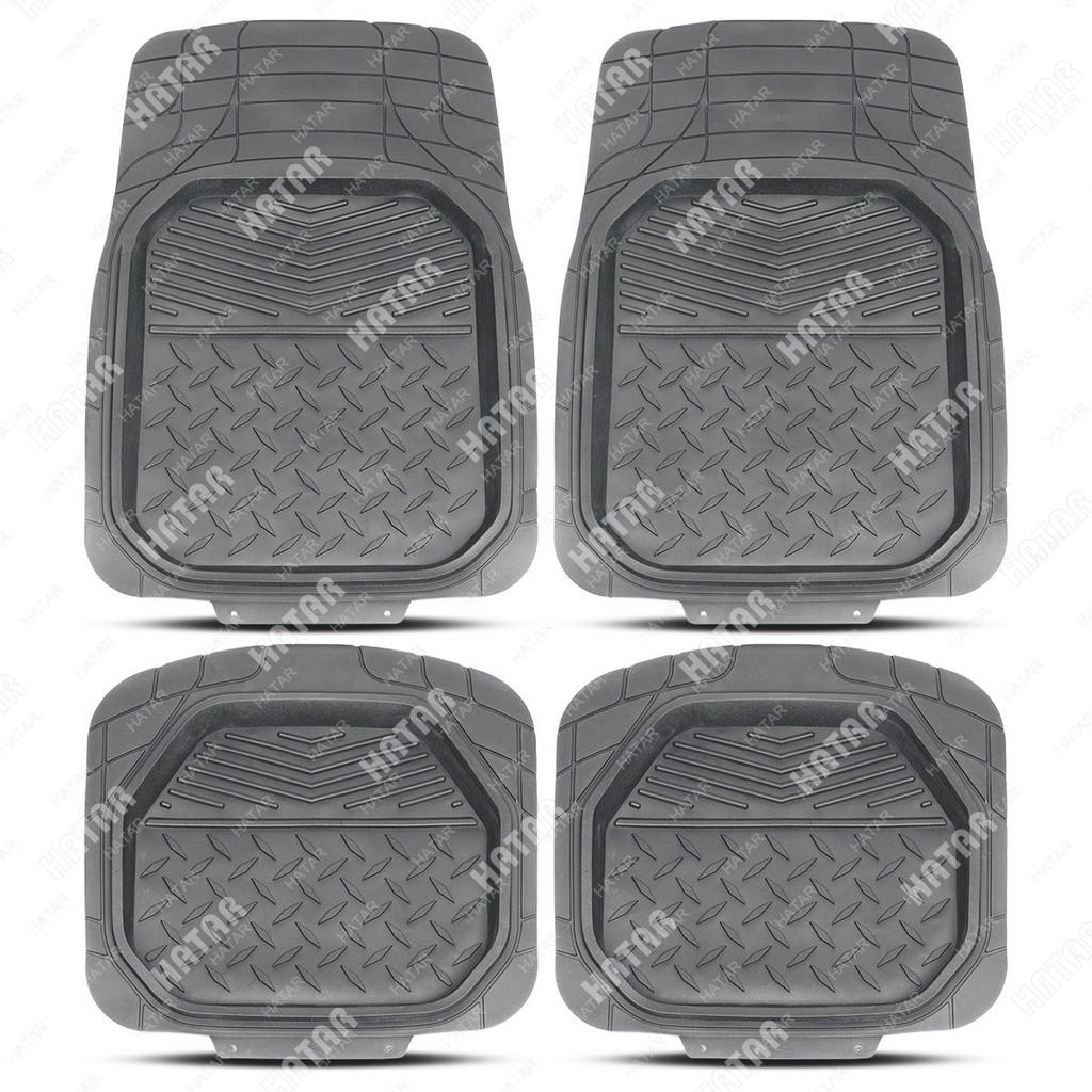 PREMIER Коврики автомобильные comfort, универсальные, ванночки, комплект из 4 предметов, серый