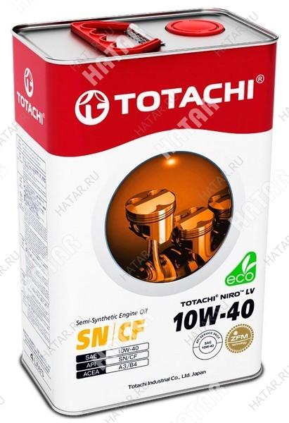 TOTACHI 10w40 niro lv масло моторное, полусинтетика,sn/cf 4л