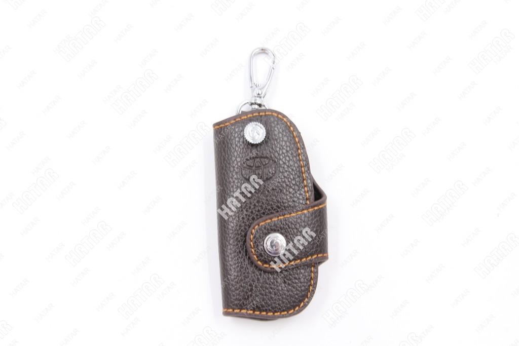 SUP Брелок-ключница кожаный toyota темно-коричневый