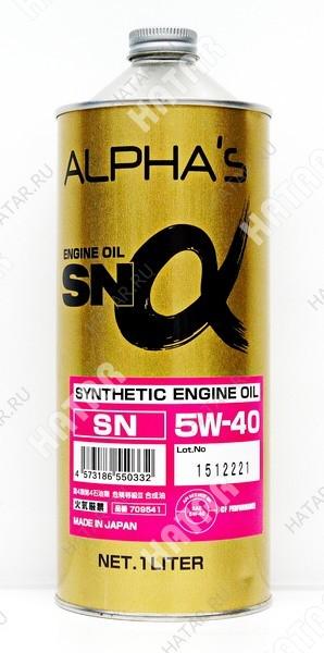 ALPHAS 5w40 масло моторное sn (синтетика бензин) 1l