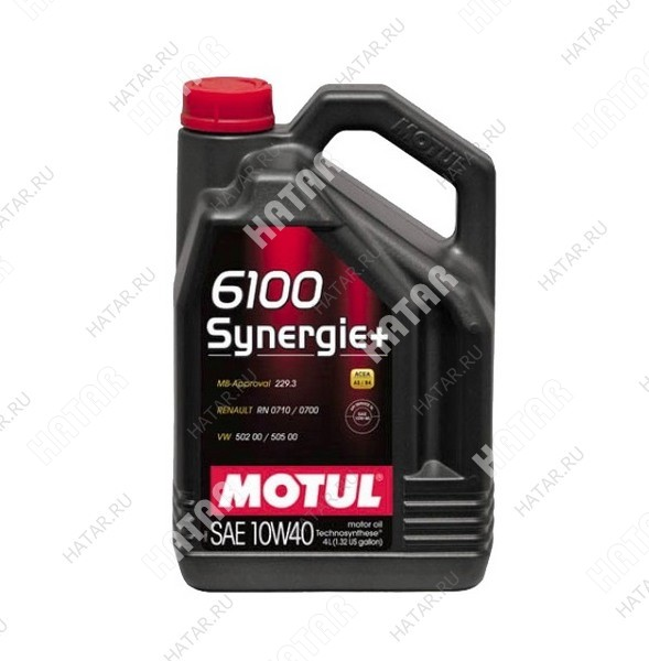 MOTUL 10w40 6100 synergie+ моторное масло синтетика sl/cf 4л