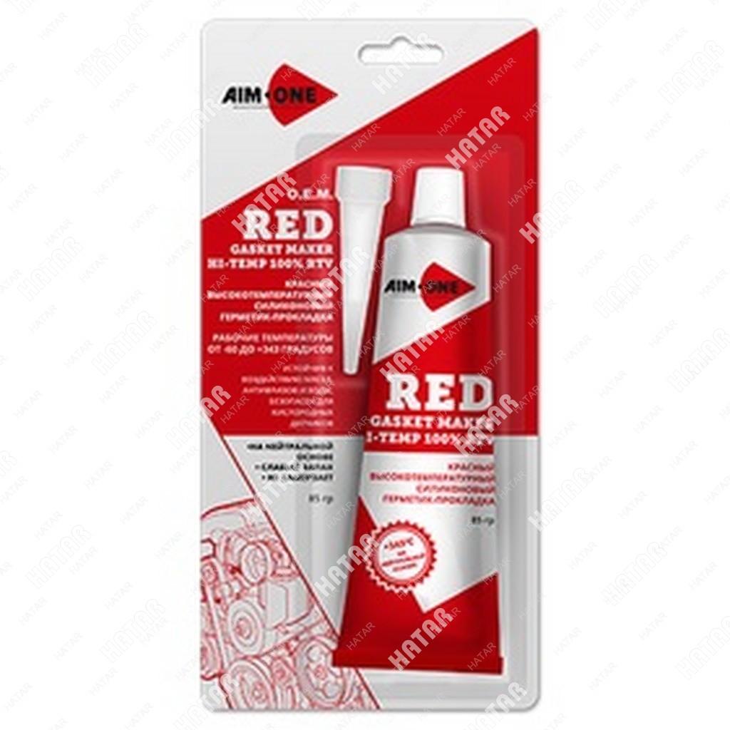 AIM-ONE Герметик для прокладок красный 85г