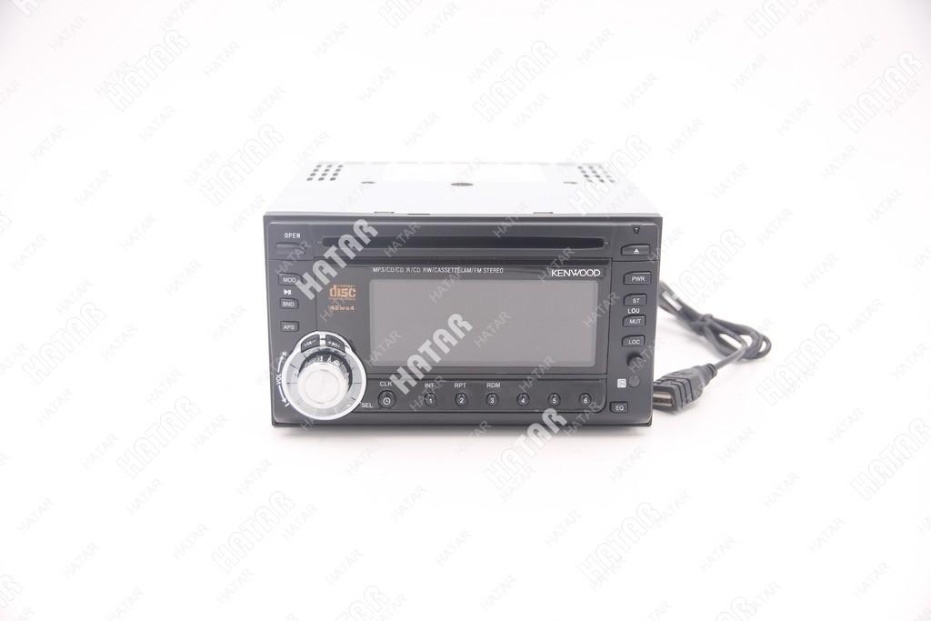 KENWOOD Автомагнитола mp3/cd/usb/sd-card/am/fm проигрыватель c жк дисплеем