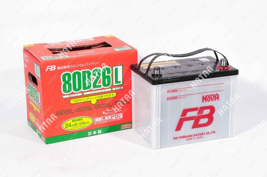 FB Аккумулятор fb super nova япония ёмкость 68 a/ч, пусковой ток 700а япония