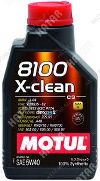 MOTUL 5w40 8100 x-clean моторное масло синтетика sm/cf 1л